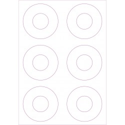 Labels sheets 7 inch Big Hole